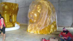 Imlek 2019 Makin Dekat, Singkawang Kehadiran Dua Singa Raksasa